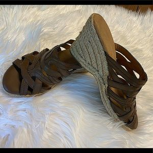 G. H. Bass & Co. Sandals Brown Wedges   Size 7 1/2
